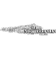 Mediterranean word cloud concept vector