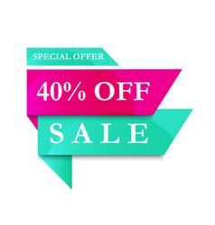 modern banner sale 40 off vector image