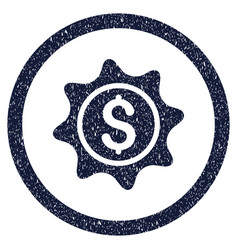 Money sticker rounded grainy icon vector