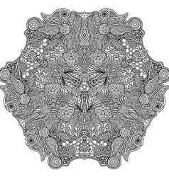 Monochrome hand drawn decorative zentangle vector