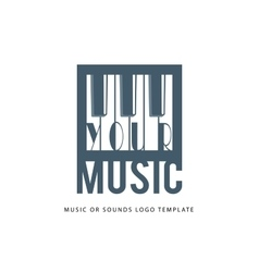 Music logo template vector