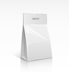 Package white bag vector image