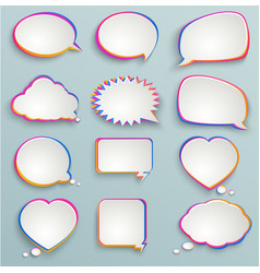 paper speech bubbles colorful painting abstract vector image