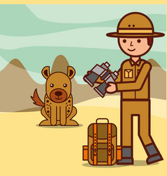 people safari travel vector image