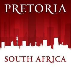 Pretoria South Africa city skyline silhouette vector