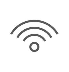 public navigation line icon wi-fi vector image