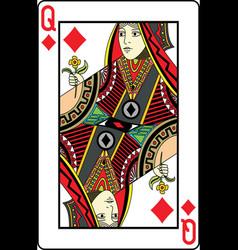 Queen of diamonds vector