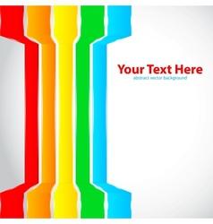 Rainbow lines vector image