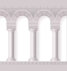 realistic white antique columns vector image