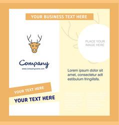 reindeer company brochure template busienss vector image