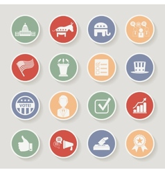 Round political election campaign icons set vector image