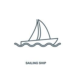 sailing ship icon outline style icon design ui vector image