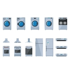 Set of large household appliances vector
