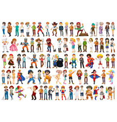 set people character vector image