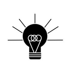 Silhouette bulb idea and creative icon vector