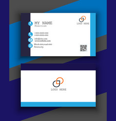 Simple and clean business card free vector