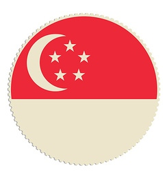 Singapore flag post vector image