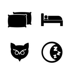 sleeping simple related icons vector image