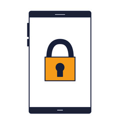 smartphone security protection white background vector image