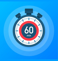 The 60 minutes stopwatch icon stopwatch icon in vector