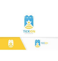 ticket and wifi logo combination ducket vector image