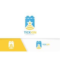Ticket and wifi logo combination ducket vector