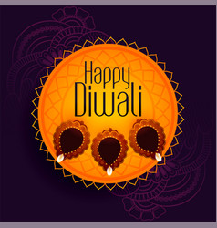 Traditional festival background happy diwali vector
