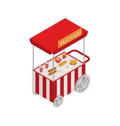 vendor fast food street sign 3d isometric view vector image