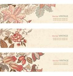 Vintage Floral banner set vector image