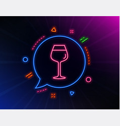 wine glass line icon bordeaux glass sign vector image