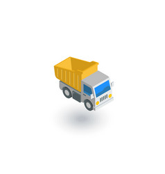 dump truck isometric flat icon 3d vector image vector image