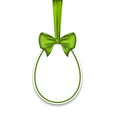 Easter paschal egg with green bow isolated on vector image