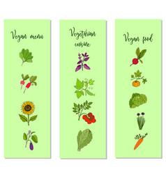 eco food vegan menu templates vector image
