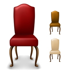 Elegant chair set vector