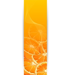 orange flyer 10 vector image vector image