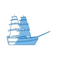 Vintage sailing ship travel adventure nautical vector