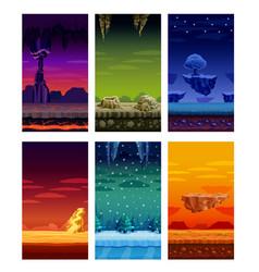 computer games colorful elements cartoon set vector image vector image