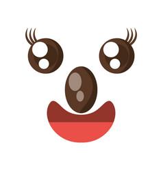 Kawaii face koala animal expression icon vector