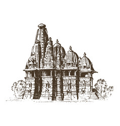 landmark of indian architecture traditional vector image vector image