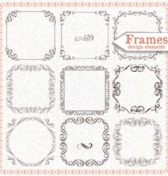 set ornate vintage frames vector image
