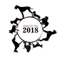 year of the dog vector image vector image
