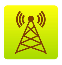 antenna sign brown icon at vector image