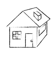 figure nice house with architecture design icon vector image vector image