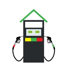 Filling Gun on Refueling the Car vector image vector image