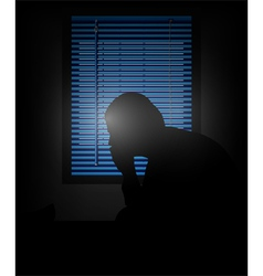 loneliness vector image vector image