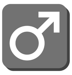 Male Symbol Rounded Square Icon vector image vector image