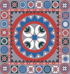 ornamental winter design vector image vector image