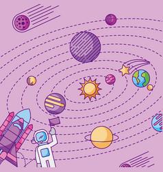 Solar system galaxy astronomy universe vector