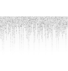 binary code background black and white vector image vector image