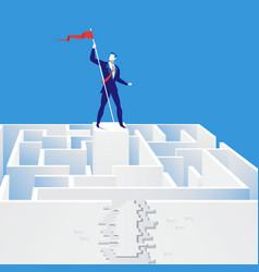 businessman finding exit vector image